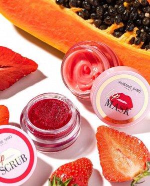 Vivienne sabo Скраб для губ сахарный  (в баночке) тон 01, ягодный **