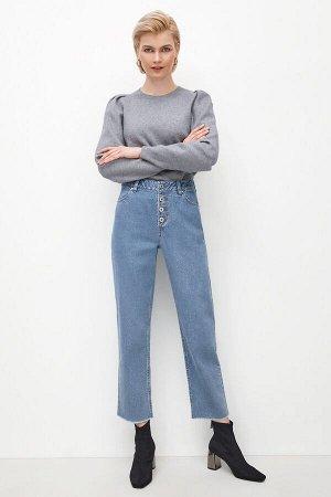 Брюки джинсовые жен. MANCHU голубой