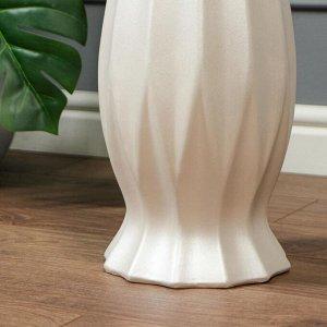 """Ваза напольная """"Кристалл"""" цвет белый. 70 см. керамика"""