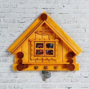 """Ключница деревянная """"Дом с окном"""", 30 х 25 см"""