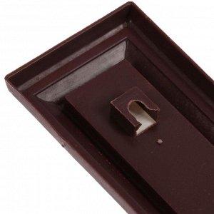 Термометр LuazON. комнатный. спиртовой. коричневый
