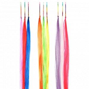 BERIOTTI Цветные пряди волос на невидимках, длина 25-28см, ПВХ