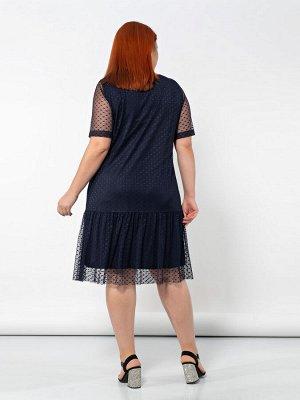Платье 0145-4 синий