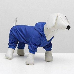 Комбинезон для собак синий, размер 2XL (ДС 34-36 см, ОШ 34-36 см, ОГ 44-48 см)