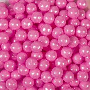 Кондитерская посыпка «Сахарные шарики» 10 мм, розовые, перламутровые, 50 г