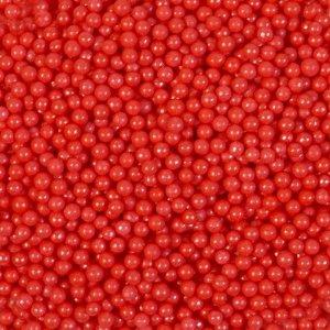 Кондитерская посыпка «Сахарные шарики» 4 мм, красные, перламутровые, 50 г