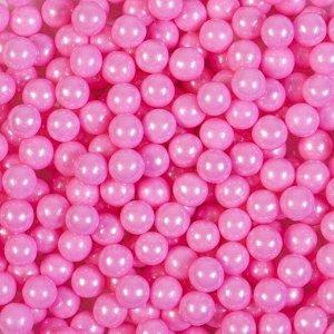 Кондитерская посыпка «Сахарные шарики» 7 мм, розовые, перламутровые, 50 г