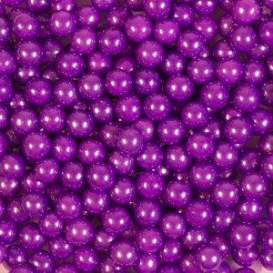 Кондитерская посыпка «Сахарные шарики» 7 мм, фиолетовые, перламутровые, 50 г