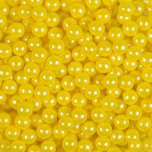 Кондитерская посыпка «Сахарные шарики» 7 мм, жёлтые, перламутровые, 50 г