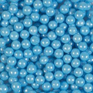 Кондитерская посыпка «Сахарные шарики» 7 мм, голубые, перламутровые, 50 г