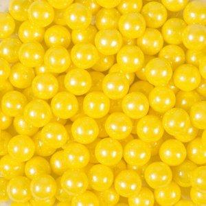 Кондитерская посыпка «Сахарные шарики» 10 мм, жёлтые, перламутровые, 50 г