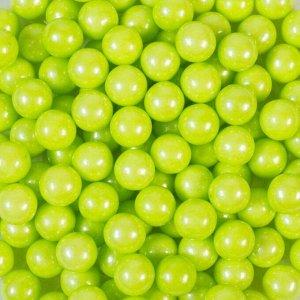 Кондитерская посыпка «Сахарные шарики» 10 мм, зелёные, перламутровые, 50 г