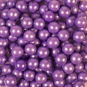 Кондитерская посыпка »Сахарные шарики» 10 мм фиолетовые, перламутровые, 50 г