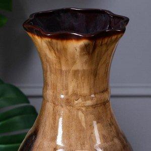 """Ваза напольная """"Илона"""". керамика. под дерево. 63 см"""