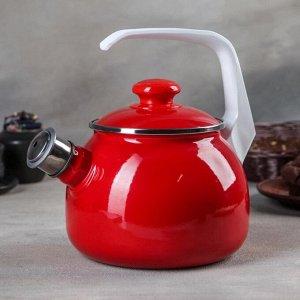Чайник, 2,5 л, цвет красный