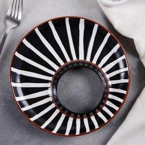 Блюдо сервировочное овальное «Зебра», 21,5?2 см
