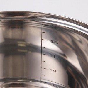 Набор посуды, 6 предметов: кастрюли 16/18/20/24 см, ковш 16 см, сковорода 24 см, силиконовые ручки, индукция