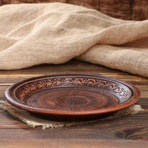 "Тарелка ""Для пасты"", декор, 24 см"