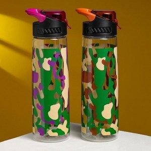 """Бутылка для воды  """"Хаки"""" 800 мл"""