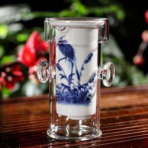 Колба для заваривания чая «Горный пейзаж», 200 мл, 7?6?10,7 см, рисунок МИКС