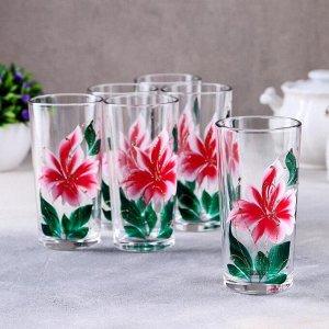 Набор стаканов GiDGLASS «Азалия», 230 мл, 6 шт, в подарочной упаковке