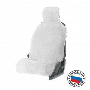 Накидка на сиденье, натуральная шерсть, белая