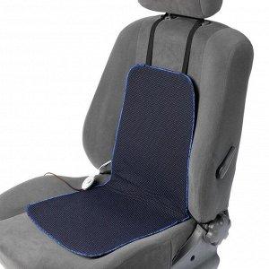 Подогрев сидений Cartage, со спинкой, 2 режима нагрева, 12 В, 30/50 Вт,40х80 см, греющий жгут - нити MicroHEAT