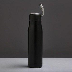 """Термос """"Теодор"""", 600 мл, сохраняет тепло 10 ч, 26х7 см, черный"""