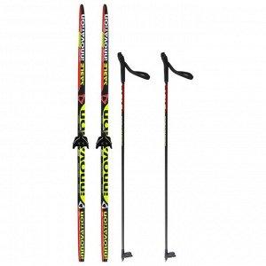 Комплект лыжный БРЕНД ЦСТ Step, 160/120 (+/-5 см), крепление NN75 мм, цвет МИКС