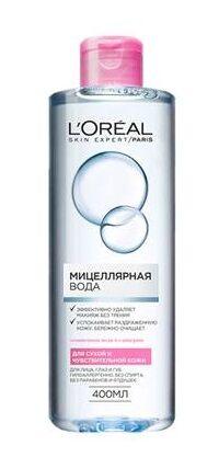 LOREAL   SKIN EXPERT  Мицеллярная вода для сухой и чувствительной кожи 400 мл.