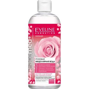 EVELINE   FACEMED+  Розовая мицеллярная вода 3в1 400 мл.