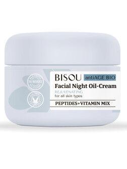 """BISOU   ANTI AGE BIO  Oil - крем для лица """"Восстанавливающий"""" для всех типов кожи - ночной  50 мл."""