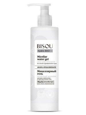 """BISOU   HYDRO BIO  Мицеллярный гель для лица """"Деликатный демакияж"""" для всех типов кожи и чувствительных глаз 150 мл."""