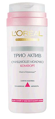 LOREAL   ТРИО АКТИВ КОМФОРТ  Молочко очищающее для сухой и чувствительной кожи 200 мл.