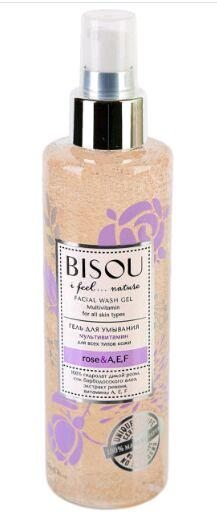 """BISOU   ROSE & A, E, F  Гель для умывания """"Мультивитамин"""" для всех типов кожи 150 мл."""