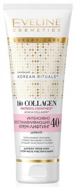 EVELINE   KOREAN RITUALS 40+  Интенсивно восстанавливающий крем - лифтинг для всех типов кожи - дневной  50 мл.