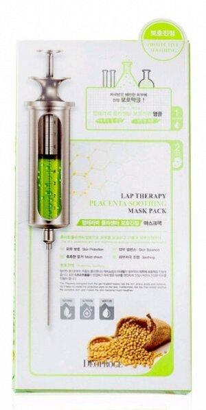 """DEOPROCE   LAP THERAPY - PLACENTA SOOTHING  Интенсивно питающая и увлажняющая маска-сыворотка с """"Экстрактом растительной плаценты""""  25 г."""
