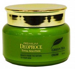 """DEOPROCE   PREMIUM GREENTEA TOTAL SOLUTION - CREAM  Крем для лица с """"Экстрактом зеленого чая"""" 100 мл."""