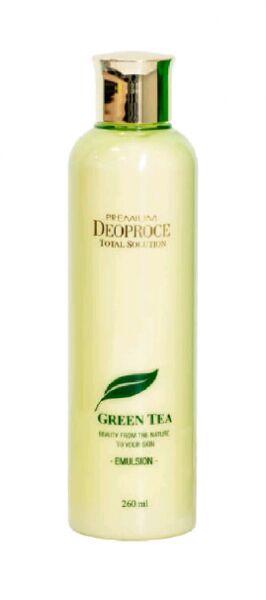 """DEOPROCE   PREMIUM GREENTEA TOTAL SOLUTION - EMULSION  Эмульсия для лица увлажняющая с """"Экстрактом зеленого чая"""" 260 мл."""