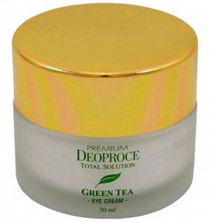 """DEOPROCE   PREMIUM GREENTEA TOTAL SOLUTION - EYE CREAM  Крем для век увлажняющий с """"Экстрактом зеленого чая""""  30 мл."""