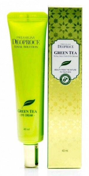 """DEOPROCE   PREMIUM GREENTEA TOTAL SOLUTION - EYE CREAM  Крем для век увлажняющий с """"Экстрактом зеленого чая""""  40 мл."""