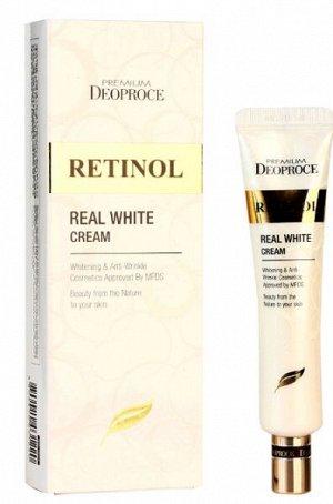 """DEOPROCE   PREMIUM REAL WHITE CREAM - RETINOL  Крем для век и носогубных складок с """"Ретинолом""""  40 мл."""