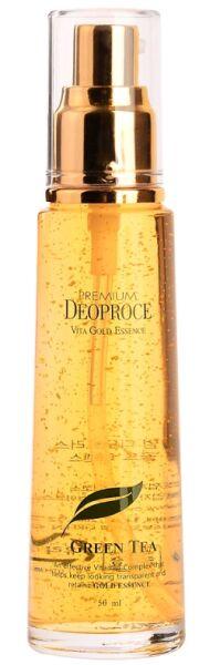 """DEOPROCE   PREMIUM VITA GOLD ESSENCE - GREEN TEA  Эссенция для лица с """"Экстрактом зеленого чая""""  50 мл."""