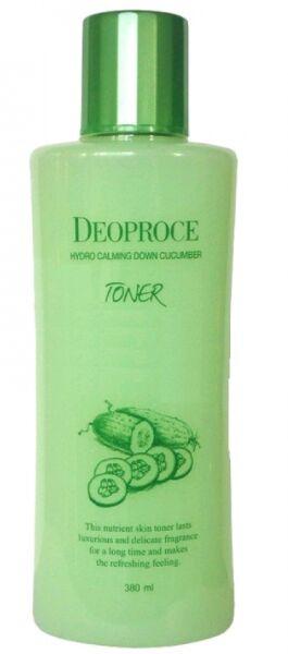 "DEOPROCE   TONER HYDRO CALMING DOWN - CUCUMBER  Тонер для лица успокаивающий с ""Экстрактом огурца"" 380 мл."