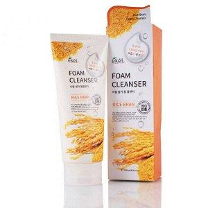 """EKEL   FOAM CLEANSER - RICE BRAN  Пенка для умывания с """"Экстрактом коричневого риса"""" 180 мл."""