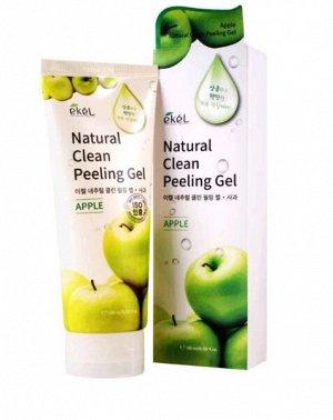 """EKEL   NATURAL CLEAN PEELING GEL - APPLE  Гель-пилинг для лица с """"Экстрактом яблока"""" 180 мл."""