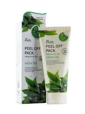 "EKEL   PEEL OFF PACK - GREEN TEA  Маска-пленка для лица с ""Экстрактом зеленого чая"" 180 мл."