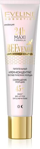 EVELINE   24H MAXI FORMULA - BEE VENOM  Питательный крем-концентрат против глубоких морщин 45+ - дневной и ночной  40 мл.