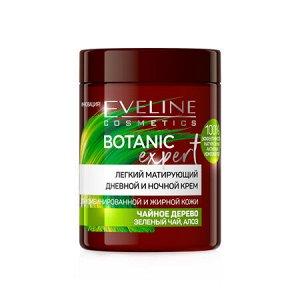 """EVELINE   BOTANIC EXPERT  Легкий матирующий дневной и ночной крем """"Чайное дерево, зеленый чай и алоэ"""" 100 мл."""
