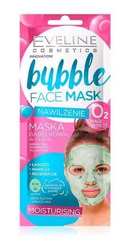 EVELINE   BUBBLE FACE MASK - MOISTURISING  Увлажняющая пузырковая тканевая маска для лица 1 шт.